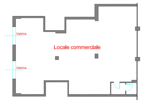 Via Goldoni, Wide Commercial Space